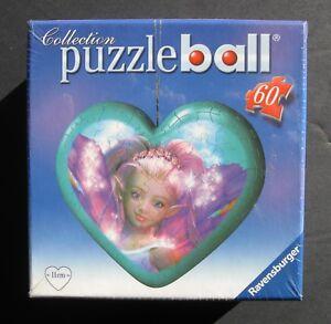 RAVENSBURGER 3D PUZZLEBALL HEART SHAPED FAIRY KEEPSAKE BOX ORNAMENT NEW! SEALED!