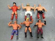 Lot of 6  Vintage 1980s Titan Sports LJN WWF Rubber Wrestler Figures Iron Sheik