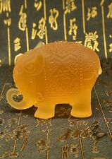 Chinese Fengshui Elephant Art Glass Statue for Happiness Crystal Sculpture