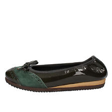 scarpe donna CALPIERRE 40 EU ballerine verde vernice camoscio AD563-C