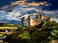 Harlech Castle Wales Limited Edition Art Print By Sarah Jane Holt
