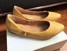 Balerinas Ledger gelb cognac von Anacapri Gr. 35 35,5 36 NEU NP 90$
