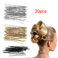 20x Hair Waved U-förmige Bobby Pin Haarspange Salon Grip Haarnadeln Haarspange -
