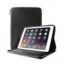 Puro PBIPAD6PFOLIOGR Real Leather Protective Folio Case for Apple iPad Air, Grey