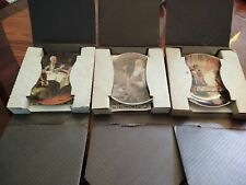 Lot of 3 Norman Rockwell Plates-Edwin M Knowles/Bradford Exchange Numbered