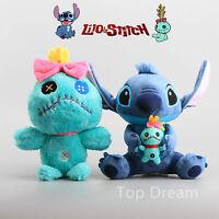 Disney Lilo Stitch & Scrump Plush Toy Soft Stuffed Doll 10'' 13'' Teddy Kid Gift