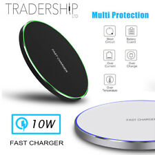 UK Metal Qi Wireless Charger 10W Fast Charging Dock Mat Pad For iPhone Android