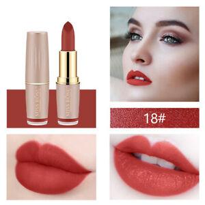 MISS ROSE Lipstick Matte Waterproof Velvet Lip Stick 12 Colors Sexy Red Nude Lip