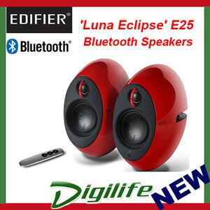 Edifier E25HD Luna Eclipse HD Bluetooth Speakers RED