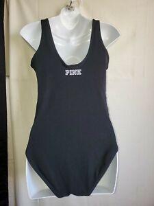 Victoria Secret PINK Bodysuit Mesh Stretchy Snap Crotch Lingerie Teddy 1Piece (M