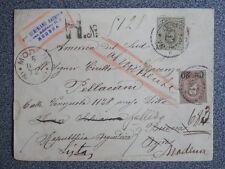 RARÍSIMO SOBRE AÑO 1890 MODENA A BUENOS AIRES Y REEXPEDIDA A ITALIA VER MARCAS
