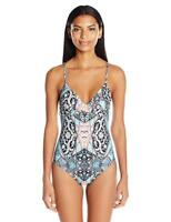 Seafolly Kashmir Wrap Front Maillot One Piece Swimsuit 7221 Size 14 US / 18 AUS