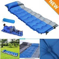 Self Inflating Mat Outdoor Tent Sleeping Pad Hike Pillow Air Mattress Camping US