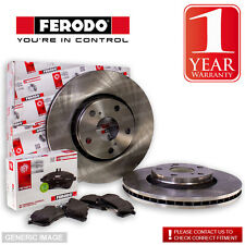 Ferodo BMW 525 D E60 Series 3.0 D 07- Front Brake Discs & Pads Fit Teves System
