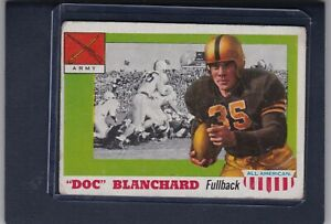 1955 Topps All American #59 DOC BLANCHARD G Army Black Knights Old Football Card