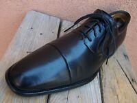 MAGNANNI Mens Dress Shoe Elegant Black Leather Lace Up Cap Toe Oxford Sz Size 9D