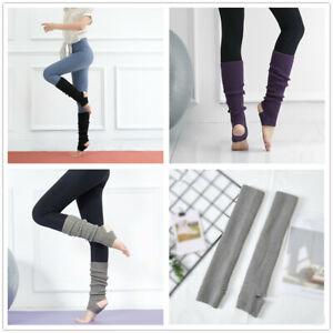 Women Girls Sleeve Yoga Ankle Protector Warm Socks Leg Warmer Ballet Long Socks