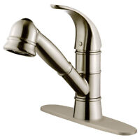 Kitchen Faucet Pull-Out Brushed Nickel LK14B by LessCare