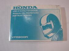 HONDA VFR800 1999 OWNER MANUAL DEL PROPIETARIO INSTRUKTIEBOEK USO E MANUTENZIONE