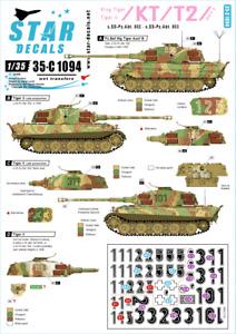 Star Decals 1/35 King Tiger/Tiger II #2 s.SS-Pz.Abt.502 decal 35C1094 x