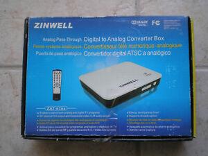 Zinwell ZAT-970A Digital to Analog converter box for TV, very clean