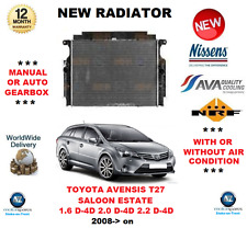 FOR TOYOTA AVENSIS T27 1.6 2.0 2.2 D-4D 2008> NEW RADIATOR ** OE QUALITY **