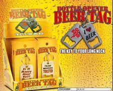 3 X  BOTTLE OPENER BEER TAG AND Keychain & Keyring - Bottle Opener
