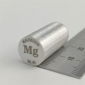 Magnesium Metal Rod 99.95% 10 diameterx20mm length Element Mg Specimen Varnished
