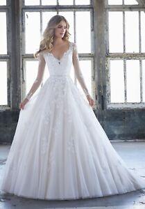 Mori Lee 8225 Kattherine Size 12 GENUINE Ivory Wedding Dress Ivory With tags