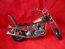 LARGE SCALE TIN EASY RIDER MOTORCYCLE -ABOUT 12 INCH LONG.NICE DETAIL -VHTF