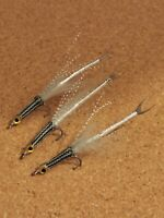 6xULTIMATE BASS SALTWATER flies WOVEN  MULLET FLY MINNOWS SURF CANDY size 4 10cm