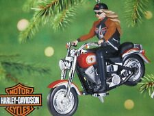 Harley Davidson Barbie 2001 Hallmark Ornament Motorcycle Rider Doll Bike Freedom