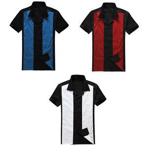 Men Rockabilly Cowboy Clothing Shirts Bowling Shirts Charlie Sheen Style Party