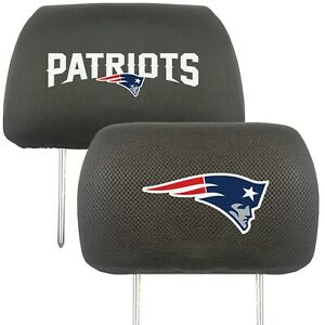 Fanmats NFL New England Patriots 2-Piece Embroidered Headrest Covers 2-4 Day Del