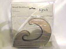 Kirsch Drapery Curtain Holdbacks New One Pair Wood Anodized Bronze 2002 One Set