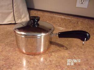 REVERE WARE Stainless  1 1/2Qt Sauce Pan/Pot Copper Bottom w/Lid - Clinton, IL