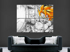 Dragon Ball Z Poster Saiyan manga japonés impresión de fotos de arte de Pared Gigante