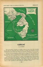 ADVERTISEMENT Bordeaux Wine Maker Map Cadillac Region Semens Beguey Gabarnac