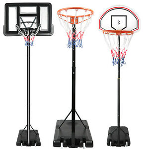 7ft 8ft 9ft 10ft Basketball Hoop Net Backboard Stand Free Standing Adjustable UK