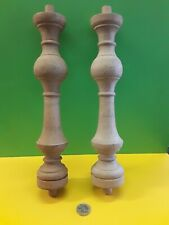 Wooden 11 1/8 ins long x 2 ins diameter turnings (pack of 2)