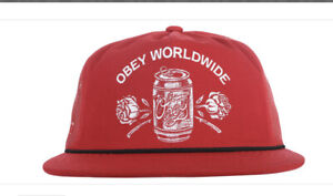 New! Obey Worldwide Red and Black Cap One Size
