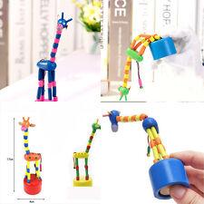 1PC  Puzzles Swing-Tanz-Karikatur-Tier Schaukel Giraffe Spielzeug aus Holz mode