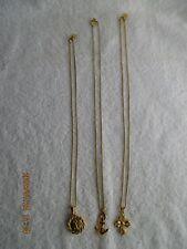 Fashion Jewelry Lot of 3 Vintage Designer Sign Anne Klein Necklaces Pendants New
