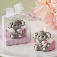 14 Cute Baby Elephant Candle Baby Shower Christening Birthday Girl Favor Lot