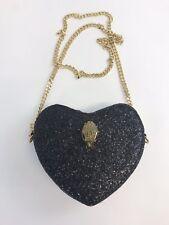 Carvela Kurt Geiger Black Sparkly Evening Party Clutch Cross Body Handbag New