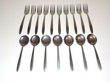 17 Pieces Delco Slimline Dinner Forks & Spoons Stainless Steel