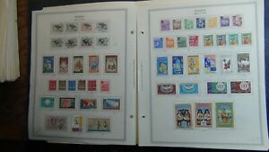 Algeria stamp collection on Minkus pages/stamps to 2009 w/ 100's