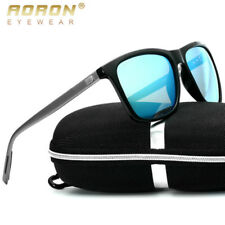 Retro-Aluminum-Men's-Sunglasses-Polarized-UV400-Driving-Glasses-Goggle-Blue-Lens