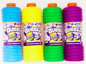 Bubblz 1 Litre Bubble Solution Large Kids Toys Game Bubbles Fun Outdoor Summer