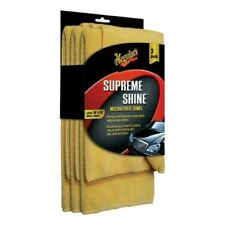 Meguiars X2020EU Supreme Shine Microfibre Towels Cloth 3 Pieces Terry Towel